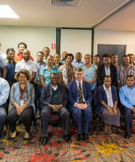 Workshop participants with Chief Justice Salika and facilitator Mr Mitchell Hughes